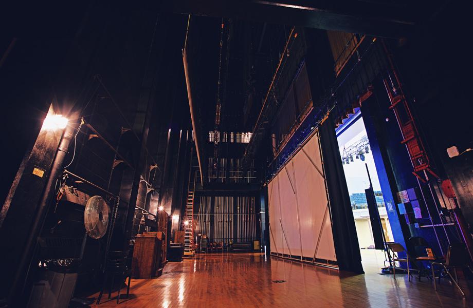 Foellinger Auditorium backstage
